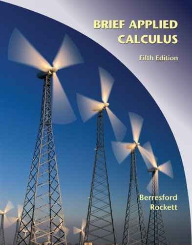 Applied Calculus  5th 2010 (Brief Edition) edition cover