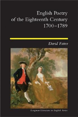English Poetry of the Eighteenth Century, 1700-1789   2002 edition cover