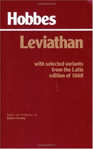 Leviathan With Selected Variants from the Latin Edition Of 1668  1994 9780872201774 Front Cover