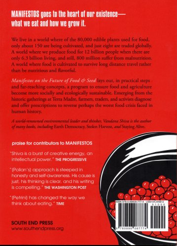 Manifestos on the Future of Food and Seed   2007 edition cover