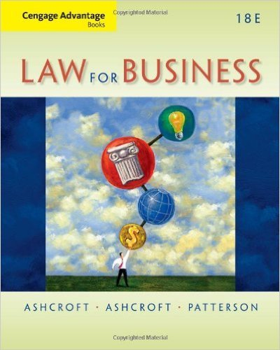 LAW FOR BUSINESS-W/ACCESS               N/A 9781285718774 Front Cover