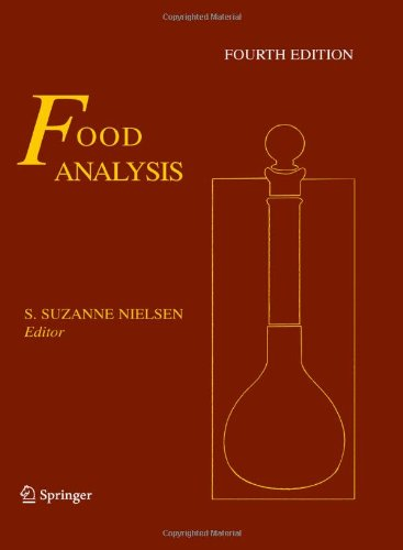 Food Analysis  4th 2010 edition cover