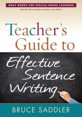 Teacher's Guide to Effective Sentence Writing   2012 edition cover