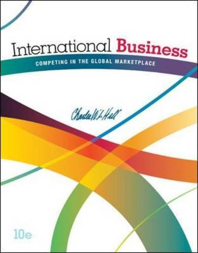 International Business - Competing in the Global Marketplace  10th 2015 9780078112775 Front Cover
