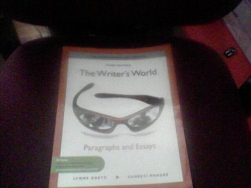 WRITER'S WORLD:PARA+ESS.>ANNOT.INSTRS< N/A 9780205781775 Front Cover