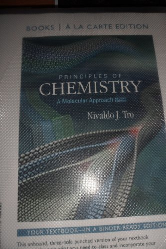 Books a la Carte for Principles of Chemistry A Molecular Approach 2nd 2013 edition cover