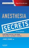 Anesthesia Secrets  5th 2016 edition cover