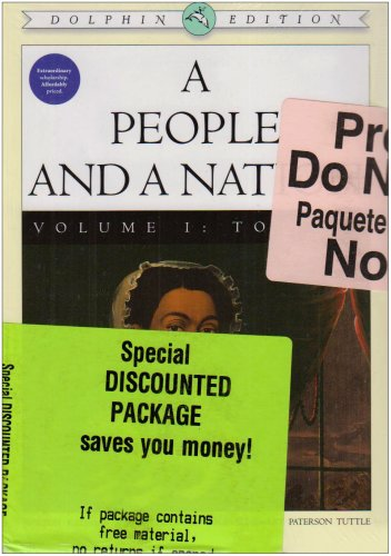 People and A Nation Volume 1 Dolphin Edition Plus Major Problems in American History Volume 1 1st 2007 9780618806775 Front Cover