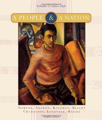 People and a Nation A History of the United States, since 1865 8th 2008 edition cover