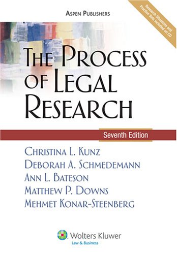 Process of Legal Research  7th 2008 (Revised) edition cover