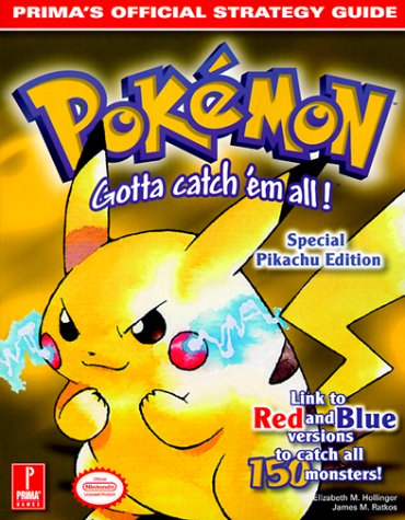 Pokemon Yellow Prima's Official Strategy Guide  1999 9780761522775 Front Cover