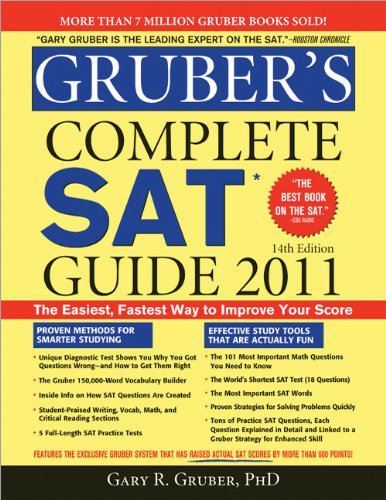 Gruber's Complete SAT Guide 2011  14th 9781402237775 Front Cover