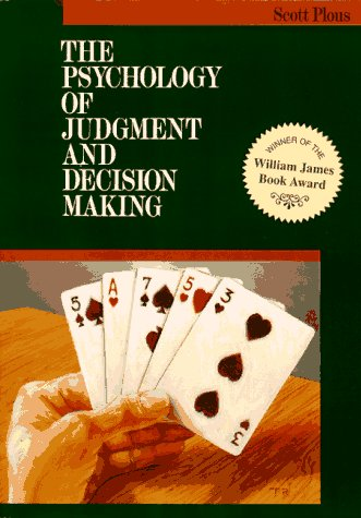 Psychology of Judgment and Decision Making   1993 edition cover