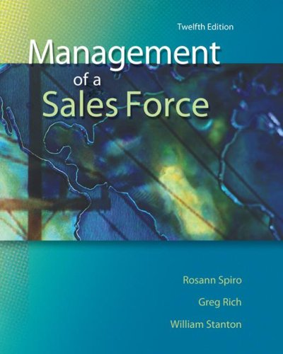 Management of a Sales Force  12th 2008 (Revised) edition cover