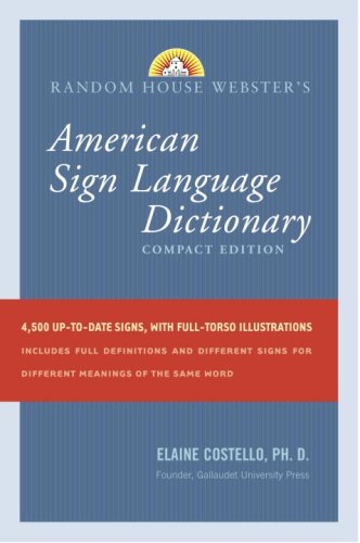 American Sign Language Dictionary  3rd 2008 (Large Type) edition cover