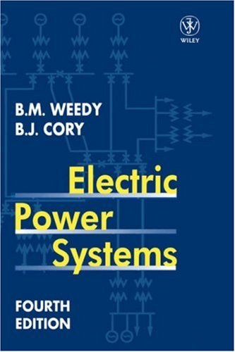 Electric Power Systems  4th 1998 (Revised) 9780471976776 Front Cover