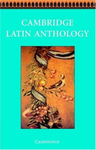Cambridge Latin Anthology   1996 9780521578776 Front Cover