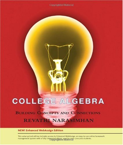 College Algebra Enhanced Edition (with Enhanced WebAssign 1-Semester Printed Access Card) N/A 9780538734776 Front Cover
