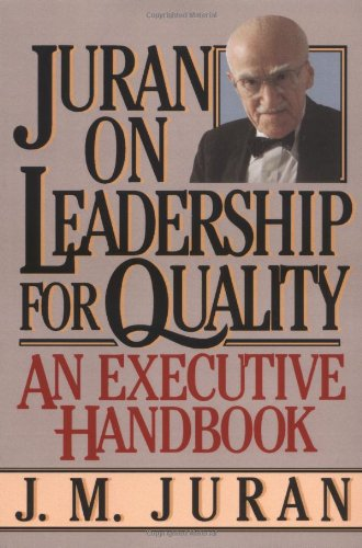 Juran on Leadership for Quality   2003 edition cover