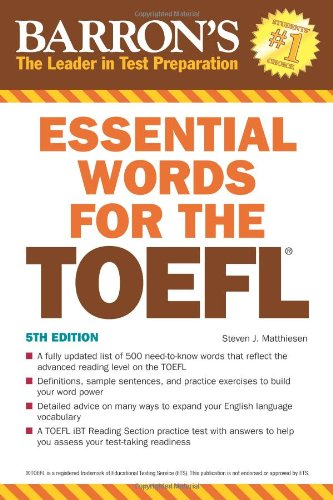 Essential Words for the TOEFL  5th 2011 (Revised) edition cover