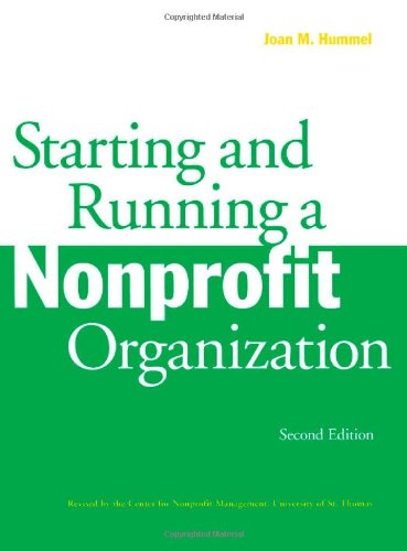 Starting and Running a Nonprofit Organization  2nd (Revised) edition cover