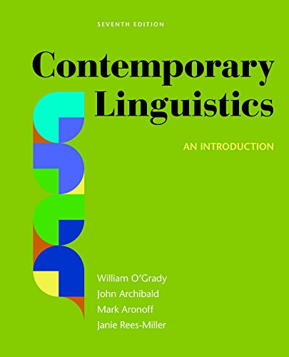 Contemporary Linguistics: An Introduction  2017 9781319039776 Front Cover
