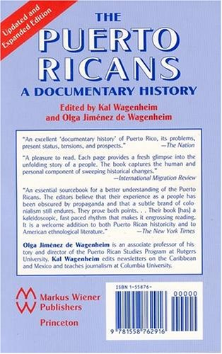 Puerto Ricans A Documentary History 2nd 2002 edition cover