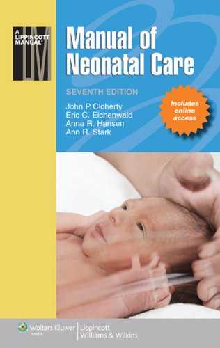 Manual of Neonatal Care  7th 2012 (Revised) edition cover