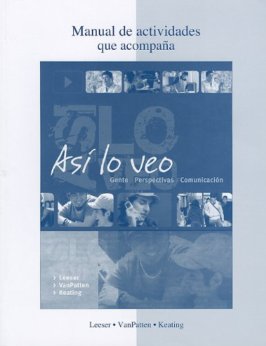 Asi lo Veo   2011 9780073296777 Front Cover