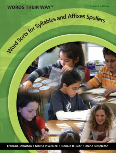 Word Sorts for Syllables and Affixes Spellers  2nd 2009 edition cover