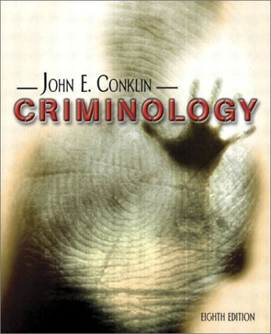 Criminology  8th 2004 (Revised) 9780205381777 Front Cover