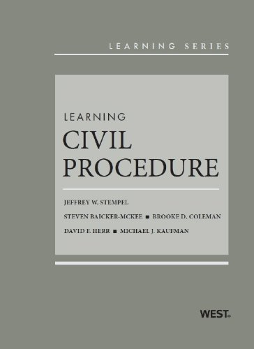 Learning Civil Procedure:   2013 edition cover