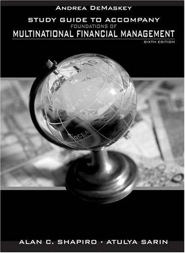 Multinational Financial Management  6th 2008 (Guide (Pupil's)) edition cover