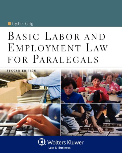 Basic Labor and Employment Law for Paralegals:   2012 edition cover