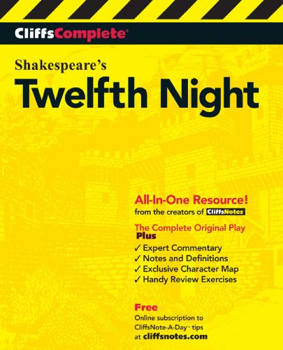 CliffsComplete Twelfth Night  2nd 2000 edition cover