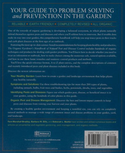 Organic Gardener's Handbook of Natural Pest and Disease Control A Complete Guide to Maintaining a Healthy Garden and Yard the Earth-Friendly Way  2010 (Handbook (Instructor's)) edition cover
