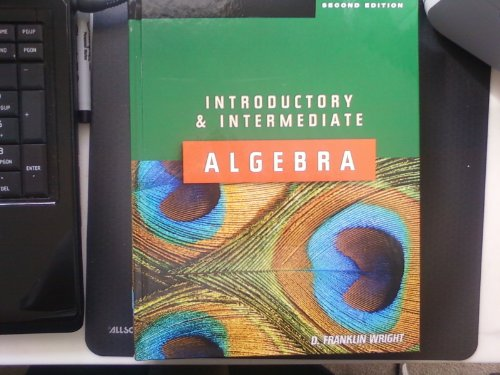 Introductory and Intermediate Algebra 2nd ed Text only Hard N/A edition cover