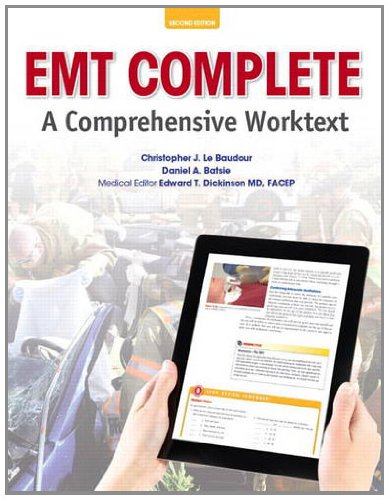 EMT Complete A Comprehensive Worktext 2nd 2014 edition cover
