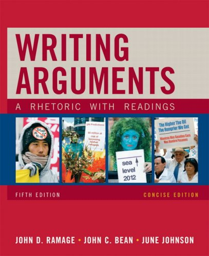 Writing Arguments, Concise Edition A Rhetoric with Readings 5th 2010 edition cover