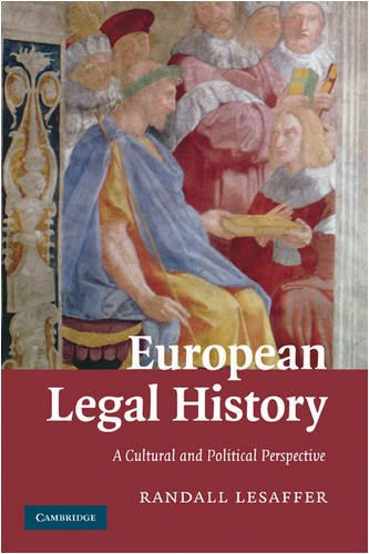 European Legal History A Cultural and Political Perspective  2009 edition cover