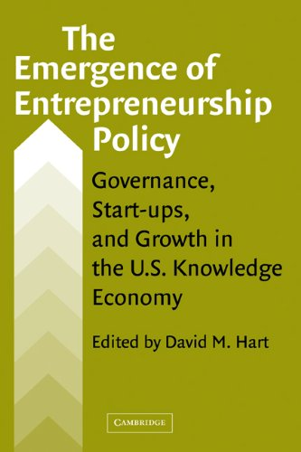 Emergence of Entrepreneurship Policy Governance, Start-Ups, and Growth in the U. S. Knowledge Economy  2003 9780521826778 Front Cover