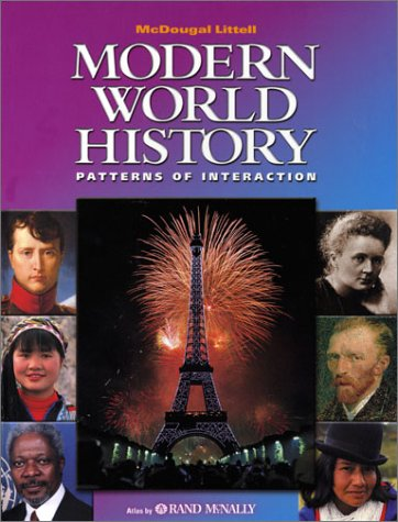 Modern World History Patterns of Interaction  2003 (Student Manual, Study Guide, etc.) 9780618131778 Front Cover
