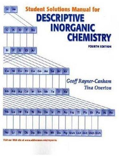 Descriptive Inorganic Chemistry  3rd 2006 edition cover