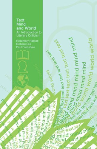 Text, Mind, and World An Introduction to Literary Criticism  2007 (Revised) edition cover