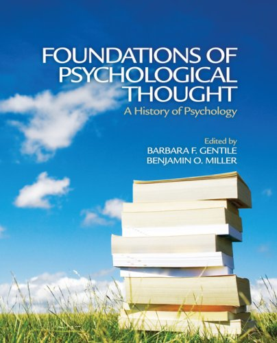 Foundations of Psychological Thought A History of Psychology  2009 9780761930778 Front Cover