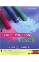 Cengage Advantage Books: Those Who Can, Teach  13th 2013 edition cover