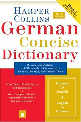 Harpercollins German Concise Dictionary  3rd 2004 9780060575779 Front Cover