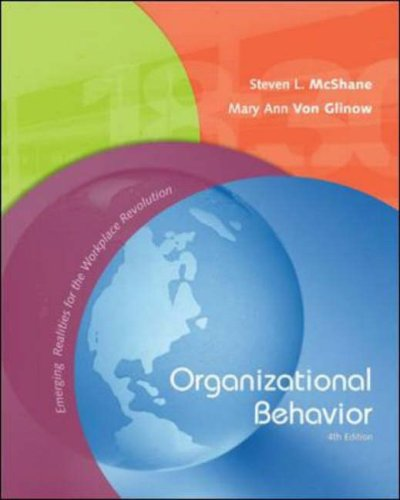 Organizational Behavior Emerging Realities for the Workplace Revolution 4th 2008 (Revised) 9780073049779 Front Cover
