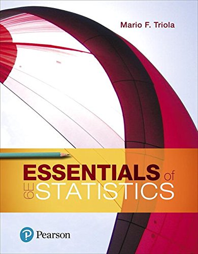 Essentials of Statistics:   2018 9780134685779 Front Cover