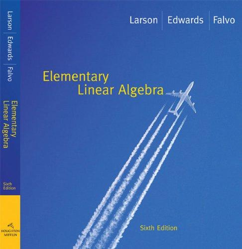 Elementary Linear Algebra  6th 2009 edition cover